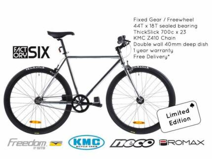 NIXEYCLES Factory6 Chrome (Ltd Ed.) Fixed Bicycle   Free Delivery