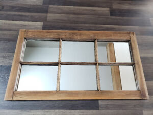 Barn Wood Window Rustic Entrance Mirror