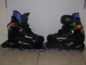 Mens Size 10, Bauer Black Roller Skates