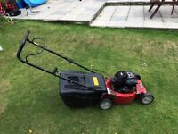 Sovereign 19 inch petrol lawn mower. Fully serviced