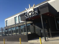 Bar Back / Runner $12 per hour plus Tip Out- Crown Bar & Grill