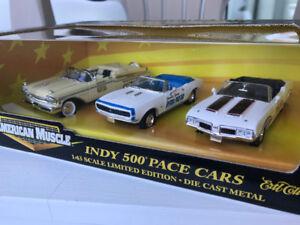 Ertl 1/43 scale  Indy 500 pace car diecast models 3 car set