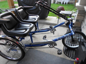 "Worksman SIDE-BY-SIDE ""Electric Recumbent Trike"""