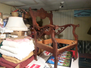 Matching Loveseat And Chair Vintage 100 yrs Old  No Seat