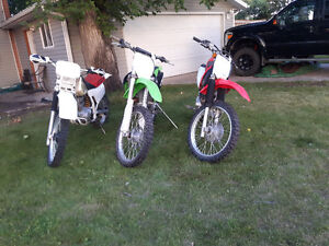 Complete Family Package of Dirt Bikes For Sale $10,000