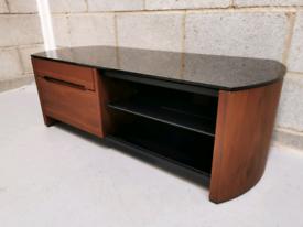 Finewoods Modern Walnut & Black Glass 1100 TV Cabinet by Alphason