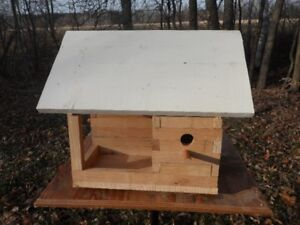 Bird feeders and nesting boxes