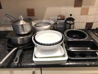 Kitchen Items - Pots Pans and Baking