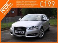 2012 Audi A3 1.6 TDI Turbo Diesel Sport 5 Door 5 Speed Climate Control Parking S