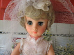 Vintage Bride Doll with Heels--1 1/2 ft tall--$25.