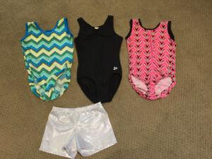 Girls Gymnastics/ Bodysuits/Leotards and shorts - size 12