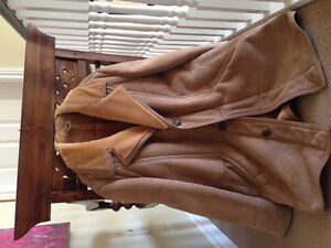 Genuine Suede Leather / Shearling Men's Coat
