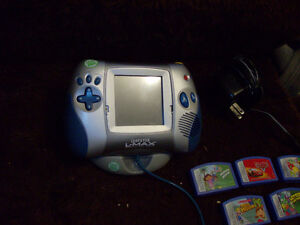 LEAPSTER L-MAX SYSTEM WITH 8 GAMES AND ADAPTER LEAP FROG Windsor Region Ontario image 2