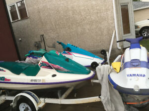 3 personal watercraft on 3 place trailer
