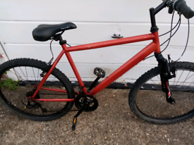 Apollo mountain bike, cost £190 pounds in halfords