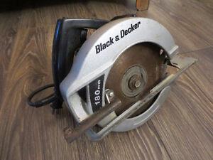 """Solid  Black&Decker 7 1/4""""  circular saw"""