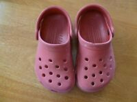 Crocs - Children's size 8/9 - Red - smoke free pet free home