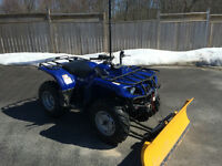 Yamaha Bruin 350 with plow– almost brand new!