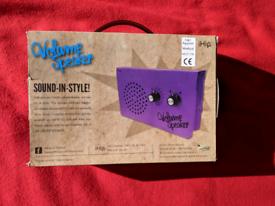 IHip purple eco friendly volume speaker in box - camping