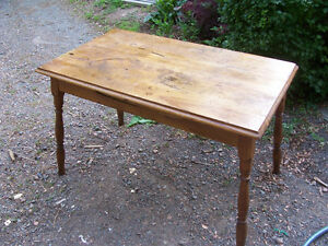 Antique Side Table  36 by 22 and 23 Tall