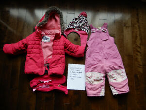 Baby girl's size 2T Winter Jacket, snow pants, toque and neck wa