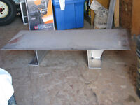 TOOLBOX SUPPORT PLATFORM- made from 3/16 in. Aluminum