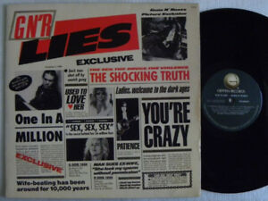 GUNS N ROSES LIES - LIVE LIKE A SUICIDE LP  RARE 1 pressing