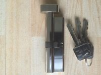 Euro Thumb Open Cylinder Lock. T 90cm 45/45. New.