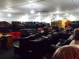 IRELANDS LARGEST SUPPLIER OF SECOND HAND LEATHER SOFAS and SUITES