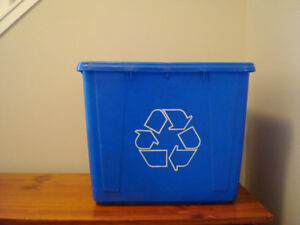 Recycle Blue Bins (Set Of Two)