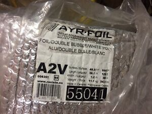 New roll of foil insulation