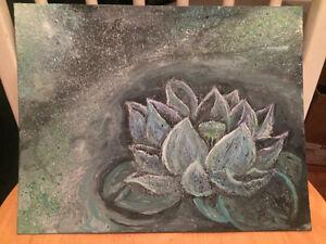Lotus Flower - Original Acrylic Painting