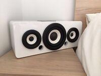iWantit Gloss White wireless bluetooth speaker with NFC technology 100w output