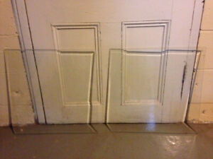 Two pieces of beveled glass