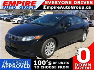 2012 HONDA CIVIC EX-L * LEATHER * SUNROOF * NAVIGATION * HEATED