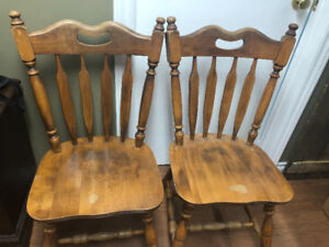 Wooden kitchen table and chair set