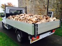 Seasoned hardwood firewood logs, all year round Newcastle/Northumberland