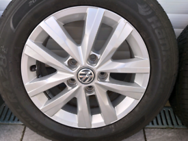 Volkswagen full set 16 inch alloy wheels for Transporter or Caddy
