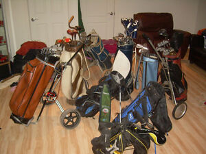 10 SETS GOLF BAG-CLUBs NORTHWESTERN-JACK NICKLAUS-WILSON 3 CADDY
