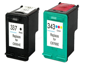 non oem replaces fit for hp 337 343 officejet 6310 6310xi 6313 ink cartridges ebay. Black Bedroom Furniture Sets. Home Design Ideas