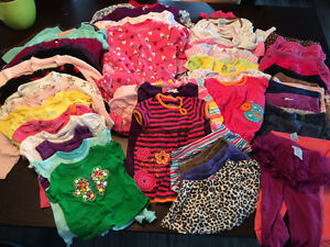 Box of baby girl clothing 6-12 months
