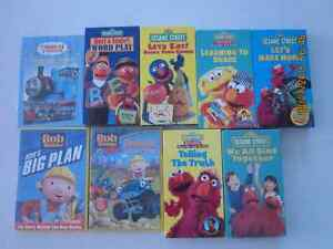 Sesame Street, Bob the Builder, Thomas the Tank Engine DVD and V