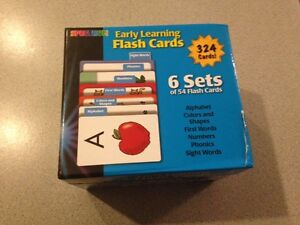 2 box each containing 6 sets of flash cards for sale