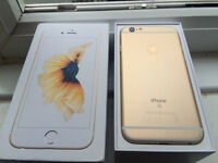 IPHONE 6S GOLD NEW WITH BOX 1 YEAR WARRANTY 16GB