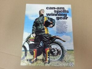 1975 Can Am T NT MX qualifier clothing brochure mint