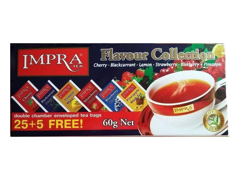 Impra Black Tea Collection Sampler Box 30 tea bags lot of 2