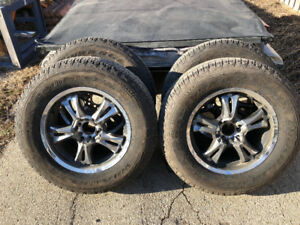 "18"" x 6 Bolt Alloy Wheels/Tires."