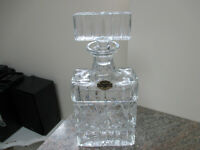 Vintage PINWHEEL hand cut CRYSTAL liquor bottle 24% POLAND