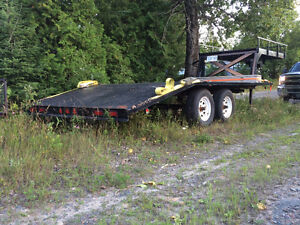 5th Wheel Flatbed 16' with top deck REDUCED