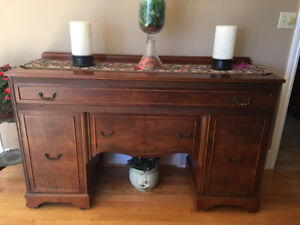 Antique side board + china cabinet